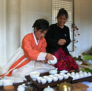 Reenactment of a traditional Confucian tea ceremony